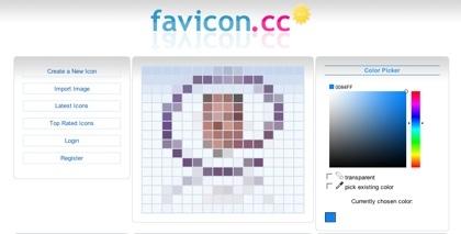 Favicon.cc, creando favicons desde la web