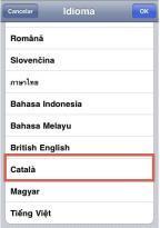 Catala incluido en el iPhone OS 4