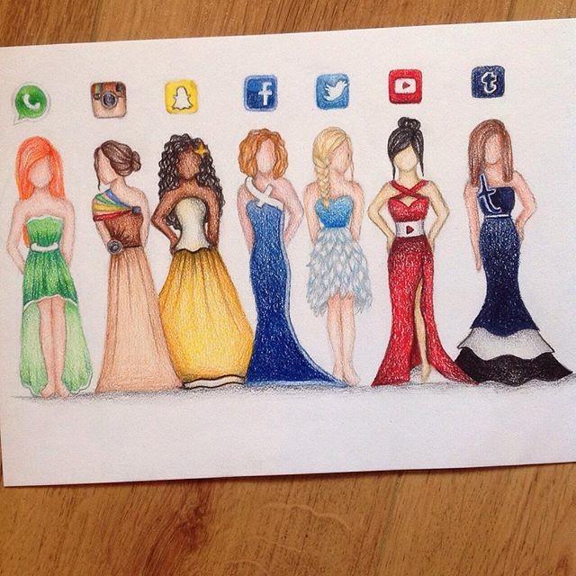 Sketches Vestidos Redes Sociales 1