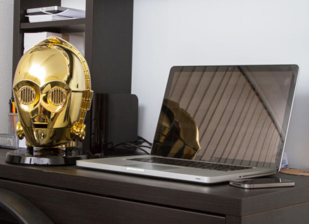 Star Wars Audio System Gold Plated C3po Stormtrooper Heads 03