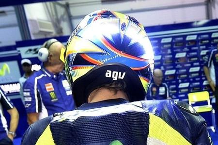 MotoGP Catar 2014: el casco con LED de Valentino Rossi