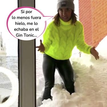 María Patiño presenta 'Socialité' desde casa al quedarse completamente aislada por el temporal Filomena