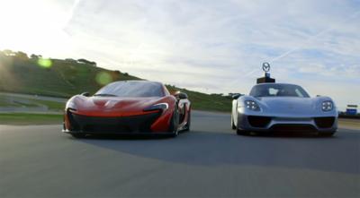 McLaren P1 y Porsche 918 Spyder, frente a frente en Laguna Seca gracias a Motortrend