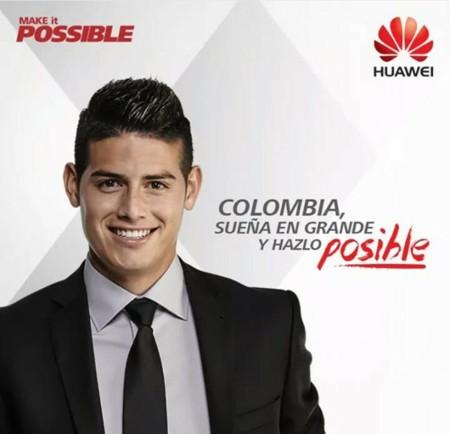 James Rodríguez es el nuevo embajador de Huawei en Colombia