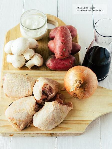Pollo Vino Tinto 2