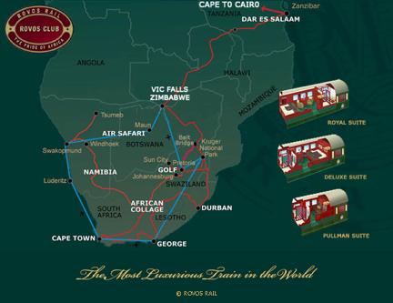 Rovos Rail, un tren de lujo en África