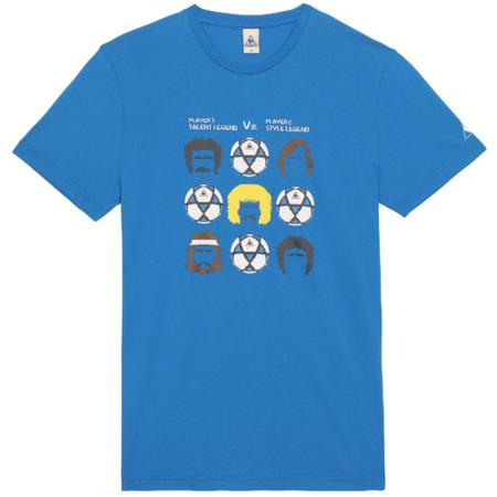 camiseta azul futbol lecoq