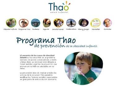 Thao, programa de prevención de la obesidad infantil
