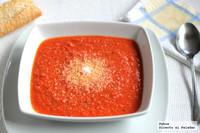 Receta de sopa picantita de tomate, jengibre y coco