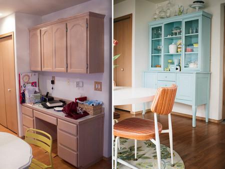 Antes y después: dándole color a un rincón de la cocina