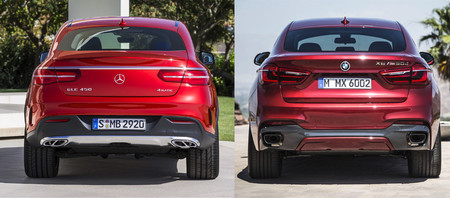 Mercedes-Benz GLE Coupé vs BMW X6 Trasera