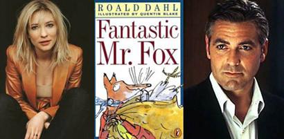George Clooney y Cate Blanchett podrían doblar 'The Fantastic Mr. Fox', de Wes Anderson