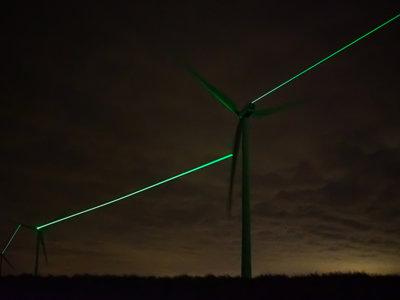La energía verde es arte gracias al fascinante espectáculo visual de estas turbinas eólicas