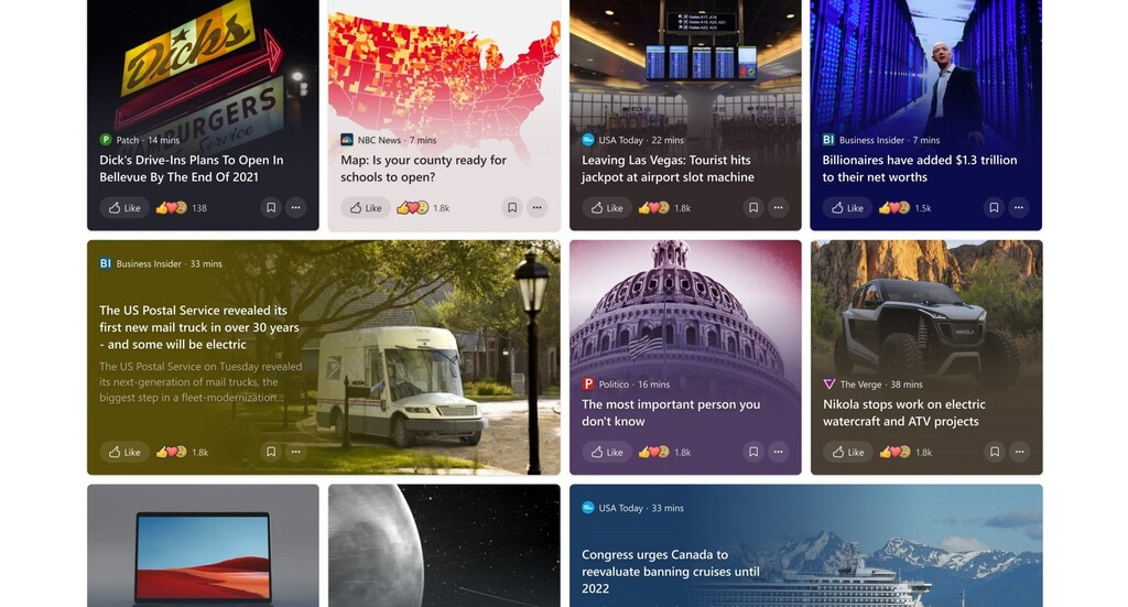 Windows 10 cambiará cómo muestra las noticias para hacerlas más atractivas e interactivas