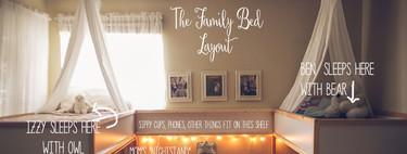"""La increíble """"habitación colecho"""" en la que duerme una pareja y sus cinco hijos"""