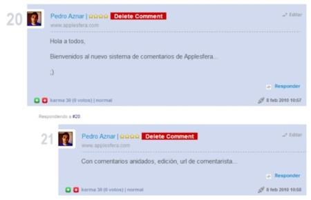 Mejoramos el sistema de comentarios en Applesfera