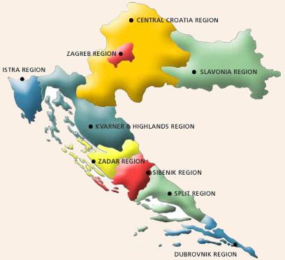 regiones de croacia