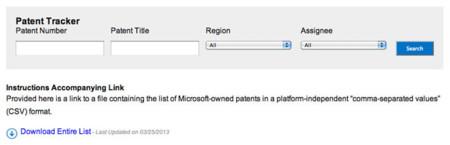 Microsoft crea una web para que busques a ver si infringes sus patentes