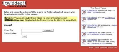 Twiddeo: Twitter + vídeo