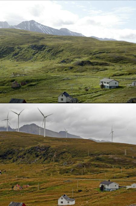 2006 2013 Vindpark Paa Fakken Vannoeya Karlsoey Kommune Troms