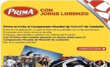 Prima te invita, por la cara, al GP de Catalunya