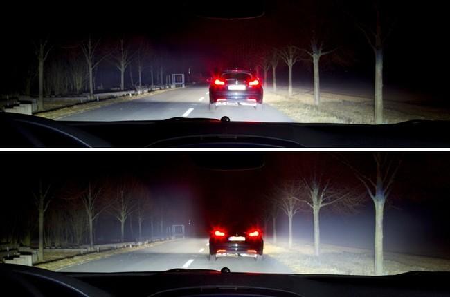 Iluminación adaptativa de Opel con LED