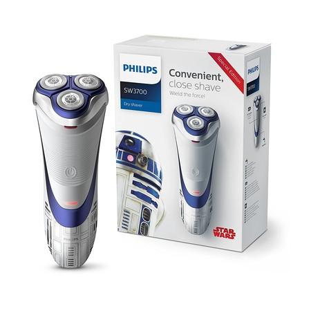 La afeitadora eléctrica Philips  SW3700/07 Star Wars R2d2 está rebajada a 39,99 euros en Amazon