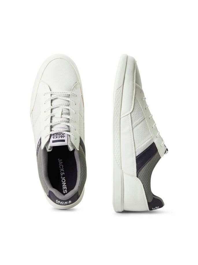 Zapatillas blancas en piel sintética