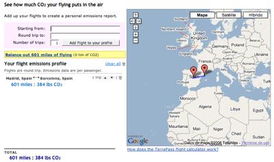 Calcula las emisiones de gas de tu vuelo