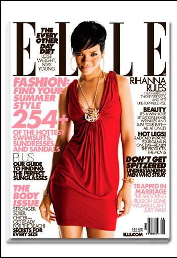 Rihanna, muy sofisticada en Elle