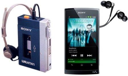 Sony Walkman original y Z1000