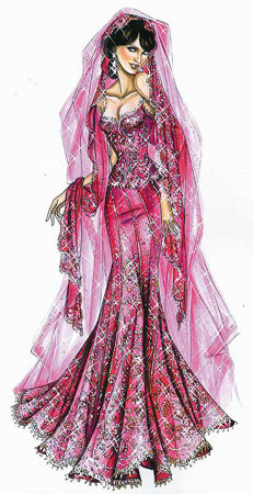 El Sari de Elizabeth Hurley, de Versace