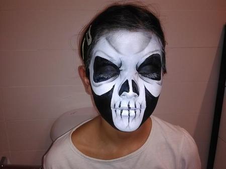 Lúcete con este maquillaje de calavera para Halloween
