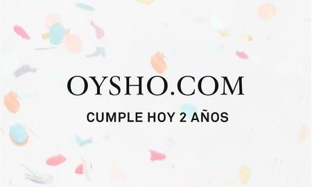 En la tienda online de Oysho están de cumpleaños y nos regalan hoy un 20% de descuento