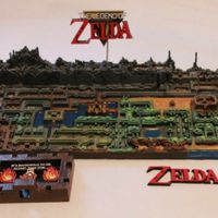 El mapa original de The Legend of Zelda es recreado a la perfección en 3D