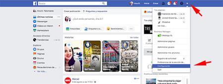 Primera Pantalla Configuracion Como Descargar De Informacion De Facebook
