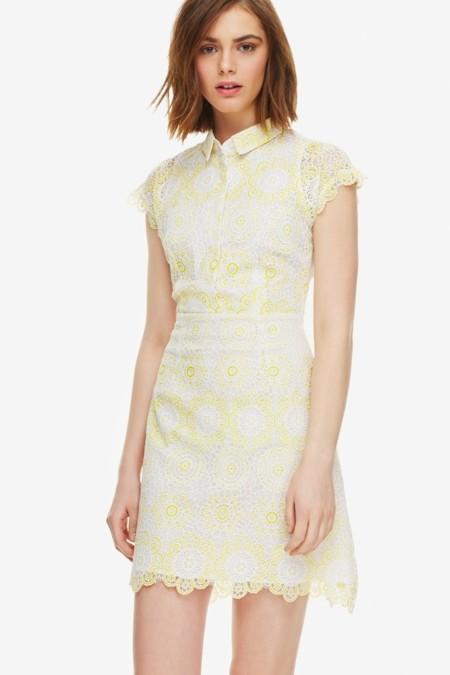 vestido de adolfo  dominguez amarillo