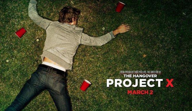 Imagen con el cartel de 'Project X'