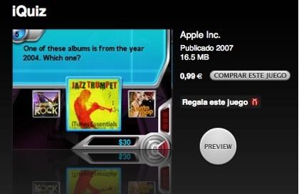 iQuiz, nuevo juego para el iPod