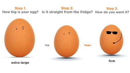 Egg Watchers, simpática ayuda para cocer el huevo perfecto