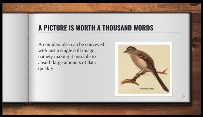 Free Presentation Template Open Book Design