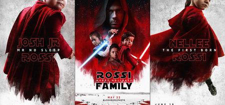 Un fotógrafo crea una épica felicitación navideña convirtiendo a su familia en personajes de 'Star Wars: Los últimos Jedi'