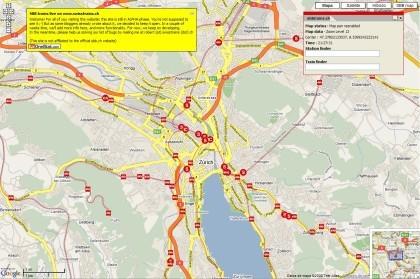 Mapa de los trenes suizos en tiempo real