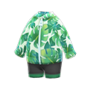Nh Clothing Leaf Print Wet Suit Green