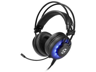 Sharkoon se apunta a los auriculares gamer llamativos con este modelo con iluminación LED incorporada