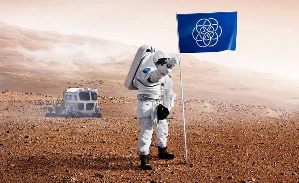 Si necesitáramos una bandera del planeta Tierra, aquí tenemos una propuesta interesante