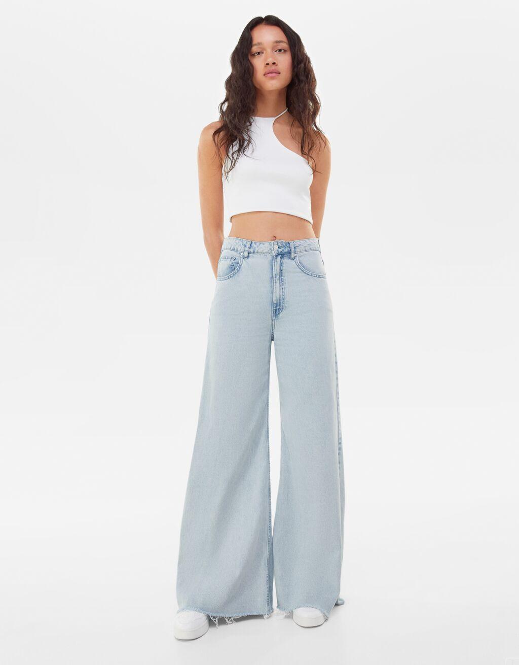 Jeans de diseño palazzo
