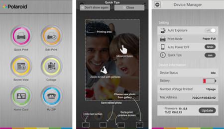 App Polaroid Zip para iOS