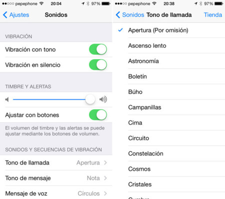 Tonos iOS 7