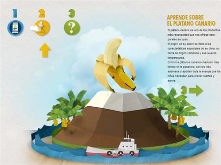 Campaña para dar a conocer el plátano de Canarias y promover un concurso dirigido a familias